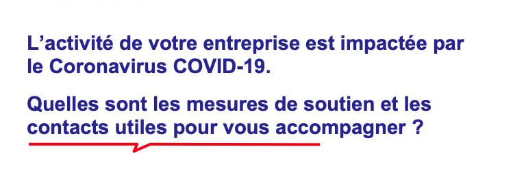 COVID-19 : Mesures d'aides entreprises